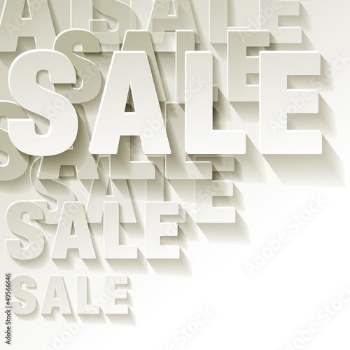 Sale weiss Ecke