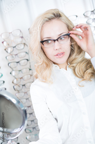 Lady in eyeglasses