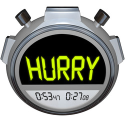 Hurry Word Stopwatch Timer Speed Rush Competetion