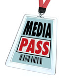 Media Pass Badge Lanyard - Reporter Access at Event or Interview
