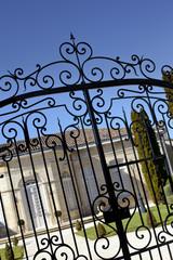 Maison, portail, grille, Saint-Emilion, Bordeaux, vin