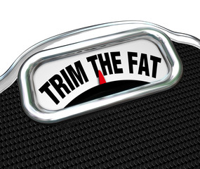 Trim the Fat Words on Scale Cut Costs Budget