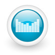 sound blue circle glossy web icon on white background