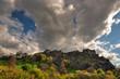 Edinburgh castle on a cloudy day, Scotland, UK