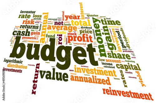Budget concept in word cloud