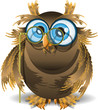owl and lorgnette