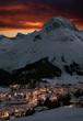 Leinwandbild Motiv Lech am Arlberg bei Nacht, Österreich