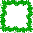 Irish four leaf lucky clovers happy St. Patrick's day background