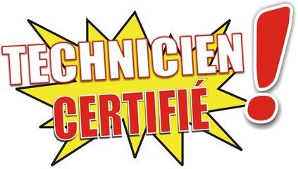 étiquette technicien certifié