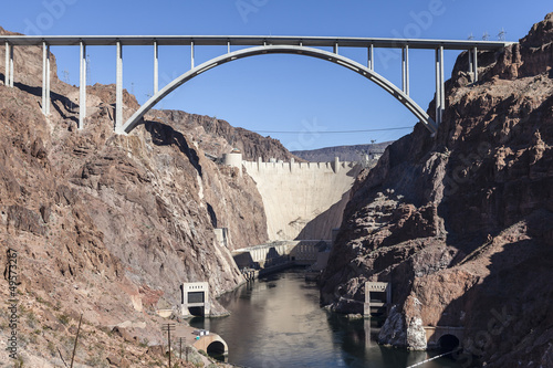 Tuinposter Dam Hoover Dam Bypass Bridge Canyon View