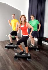 Gruppe beim Workout