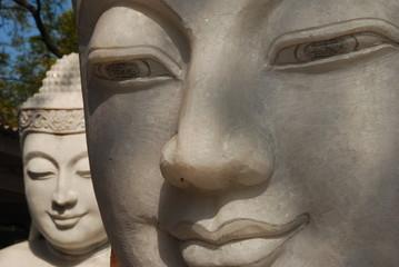 Buddha Statue on Stonecutters street, Mandalay, Burma