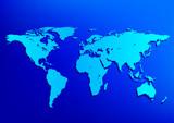 Fototapeta niebieski - praca - Mapa / Świat