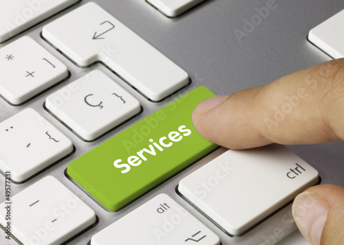 Services keyboard key Finger