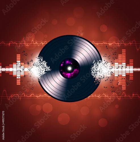 Vinyl Music Waves Background