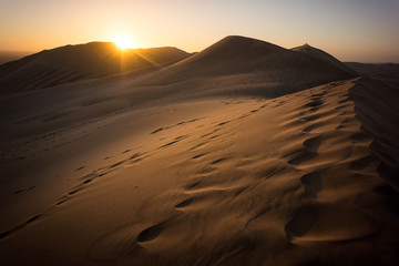 Sunset at Dune 7 near Walvis Bay in Namibia