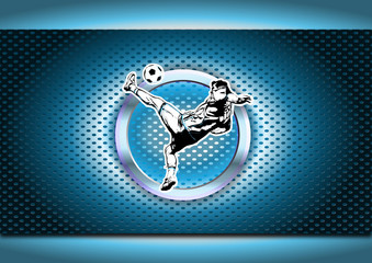 chrome soccer poster background