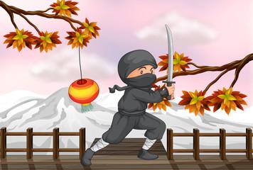A ninja with a sword