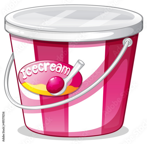 An ice cream bucket