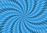 Blue Zigzag starburst poster