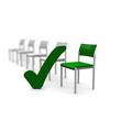 stuhl, stühle, platz, grün, sitzplatz, warten, auswahl,