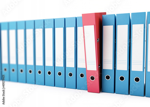 office folders, binder 3d Illustrations on a white background