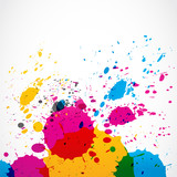 Fototapety colorful grunge splash paint