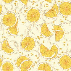 Seamless pattern with orange