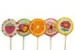 bunte Früchte Lollys