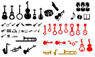 musical instruments symbols