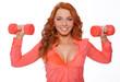 Image of redhead woman posing in studio
