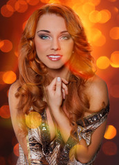 Image of stylish redhead woman