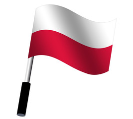 Flagge Polen wehend