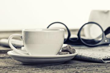 Captured moment of coffee break