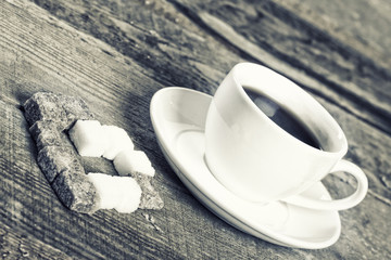 Image of coffee cup and sweet heart