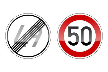verkehrszeichen v2 geburtstag 49 50 I