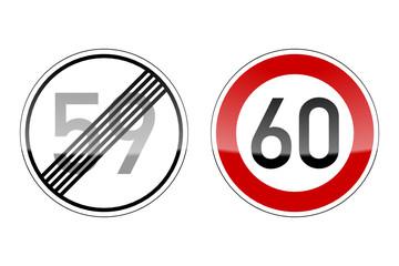verkehrszeichen v2 geburtstag 59 60 I