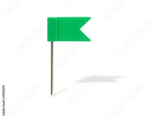 grüner Flaggenpin