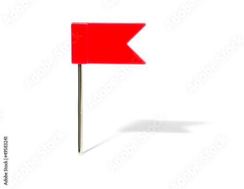 roter Flaggenpin