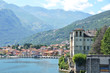 Gravedona town and Como lake, Italy