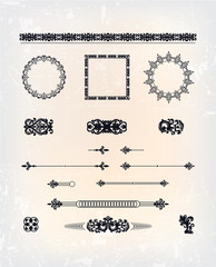 set of abstract antique pattern