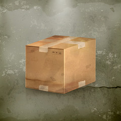 Carton box, old-style