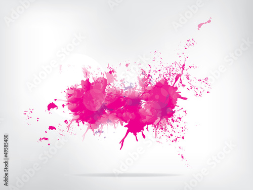 Aluminium Vormen Colored paint splashes on abstract background