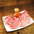 frisch aufgeschnittene Schweinekoteletts