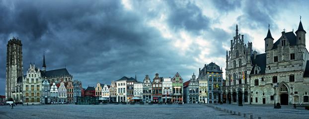Main square of Mechelen, Belgium