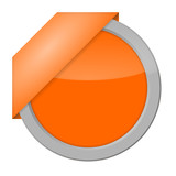 button blanko orange 1