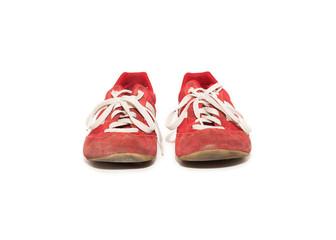 zapatillas de color rojo aisladas