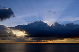 Clouds at sunrise over the sea, Menorca, Spain, Europe