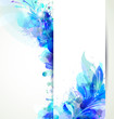 Abstract background with blue floral