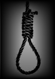 old rope with hangman's noose